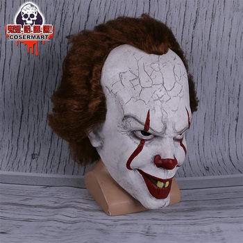 Stephen King ' s It Kaukė Pennywise Kostiumas Joker Kaukė Tim Curry Siaubo Kaukėmis Cosplay Helovinas