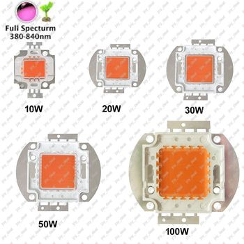 Epiled 10W 20W 30W 50W 100W High Power LED Chip viso Spektro LED Grow Light 380nm - 840nm COB LED Integruotas Šviesos Šaltinis